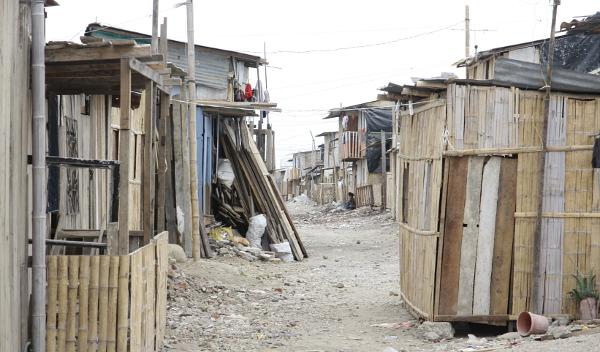 Ein Armenviertel im Guasmo